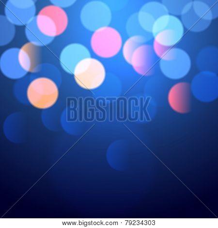blue bokeh lights for your designs