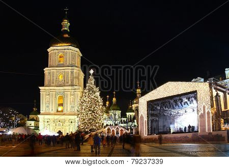 Winter Holidays On Sophia Square In Kyiv