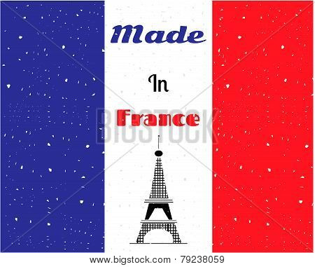 Black Eiffel tower, France flag