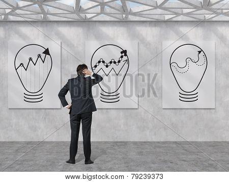 Three Bulbs On The Wall
