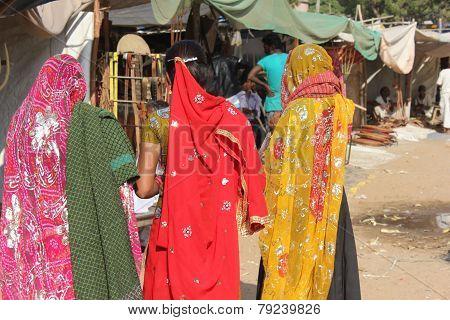 Indian women at Pushkar