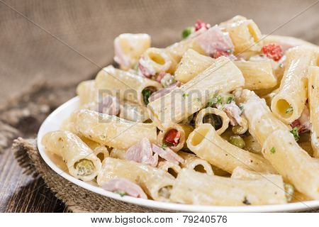 Portion Of Pasta Salad