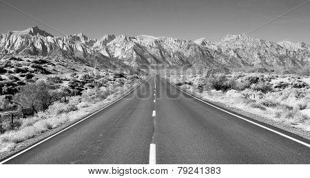 Perfect Highway Owens Valley Sierra Nevada Mountains California