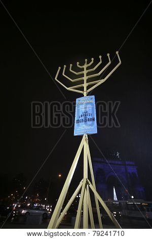 World's largest Hanuka menorah