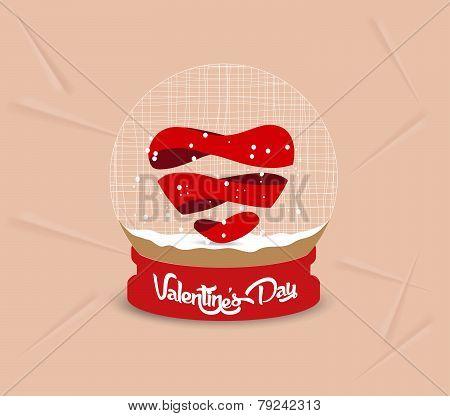 happy valentines day heart globe