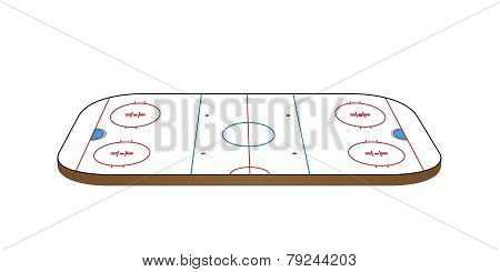 Hockey Rink 3D Perspective