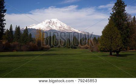 Golf Course Fairway Mount Shasta California Cascade Range