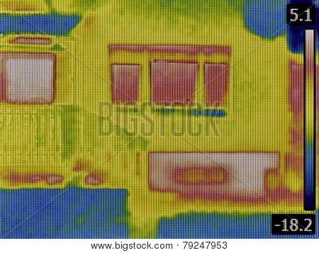 Thermal Image of a Heat Loss from Basement