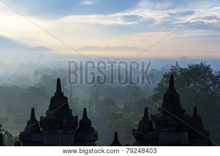 Morning View From Burdobudur