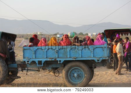 Indian People On A Truck