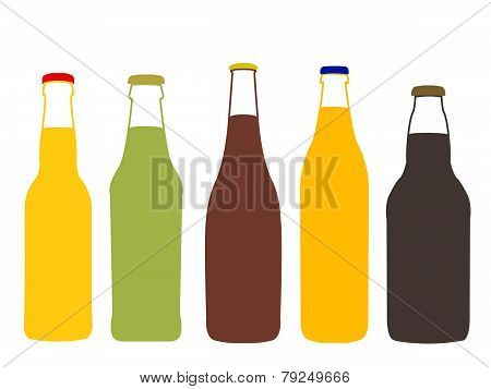 Different Kinds Of Beer Full Bottles