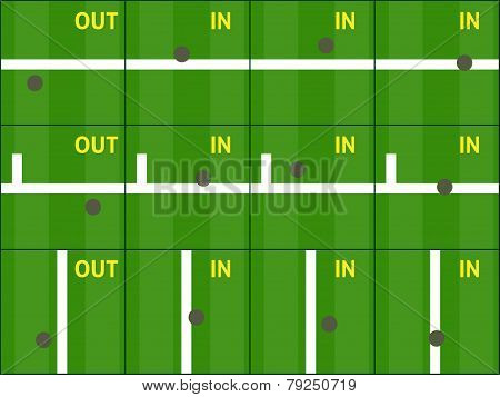 Tennis Hawk Eye Challenge Grass