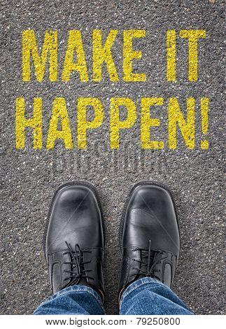 Text on the floor - Make it happen
