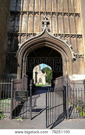 Arch in Evesham Abbey Tower.
