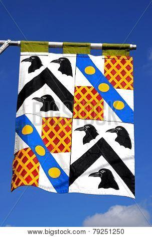 Medieval flag, Tewkesbury.