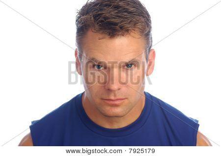 Fitness Man Closeup