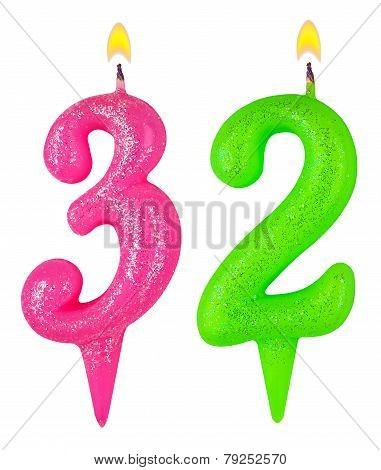 Birthday Candles Number Thirty Two