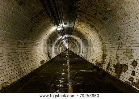 Greenwich foot tunnel in London, UK