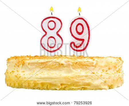 Birthday Cake With Candles Number Eighty Nine