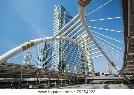 Bangkok Skywalk And Sky Train