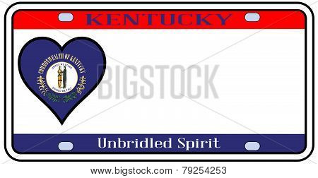 Kentucky State License Plate