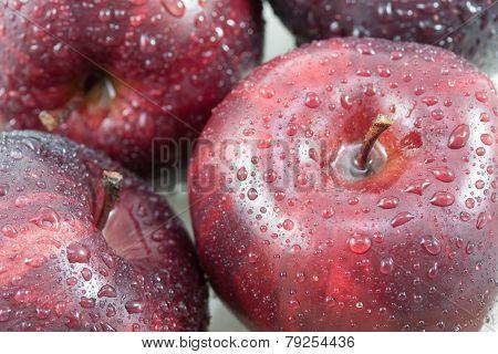 a Fresh Ripe Apple Full Frame Background.