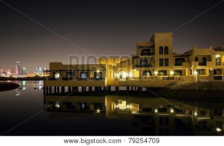 Novotel Al Dana Resort Bahrain. Night View Of Manama