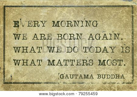 Morning Buddha