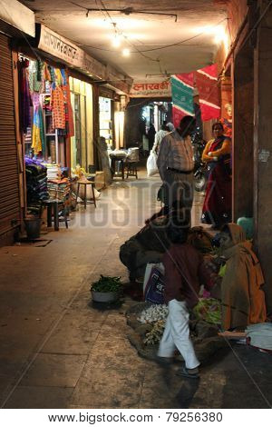 Indian Souq At Night