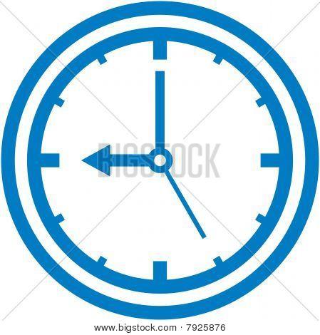 Vector clock dial illustration