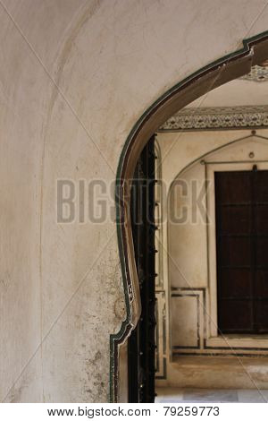 Arched Doorway On The Amber Fort