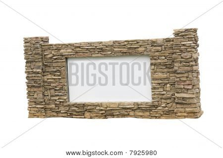 Stacked Stone Sign