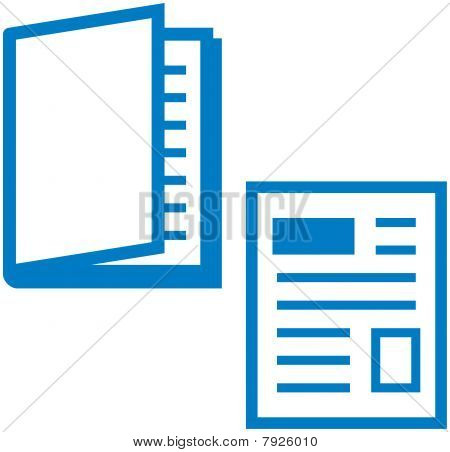 Vector illustration - Printed media - magazine and newspaper