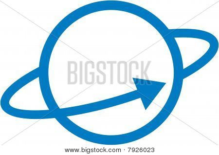 Vector planet orbit illustration