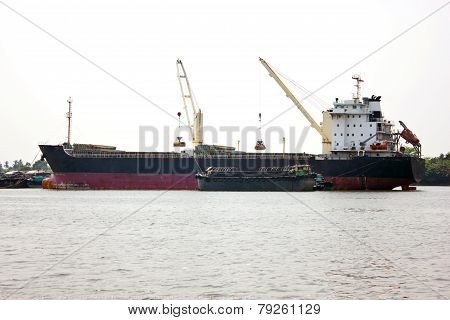 Ship In The Cargo Port.
