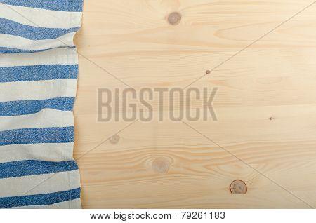 Kitchen Cloth On Wood Background