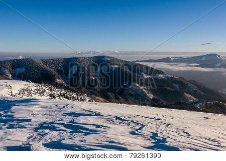 Sunny Morning In Winter Mountains - Greater Fatra, Slovakia