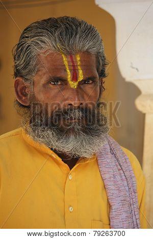 Indian Man With Long Beard