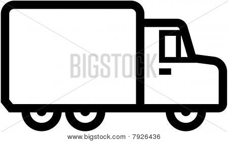 Simple truck icon - vector illustration