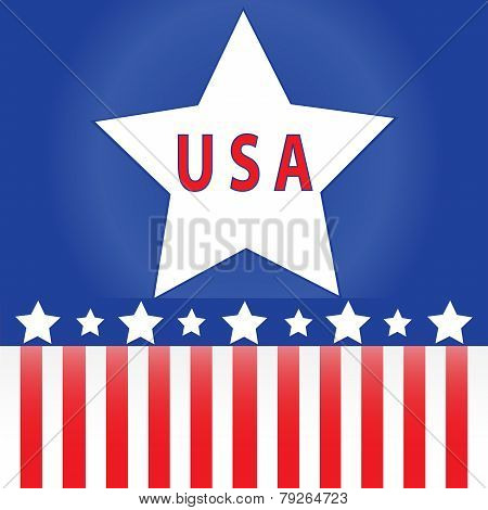 Red White And Blue Usa Logo