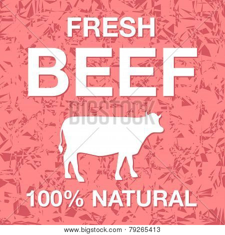 Fresh beef poster