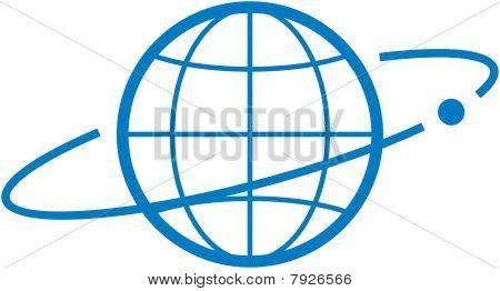 Satellite orbit - Vector illustration