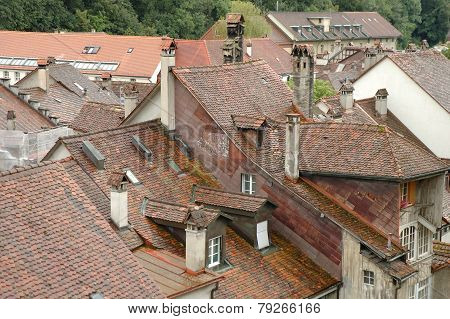 Roofs And Buildings In Bern, Switzerland