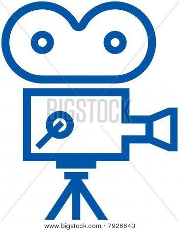 Retro film camera icon - Vector illustration