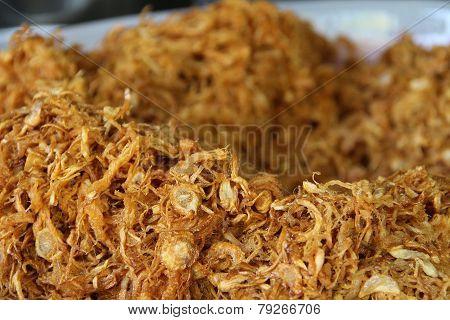 Crispy fried shredded pork