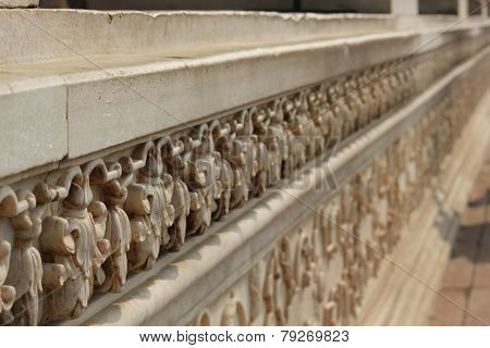 Bas Relief Detail Inside The Red Fort Complex In Delhi