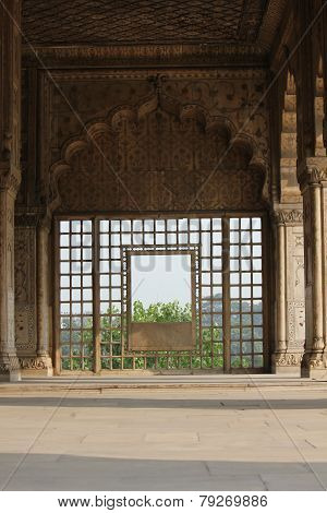 Inside The Red Fort Complex In India