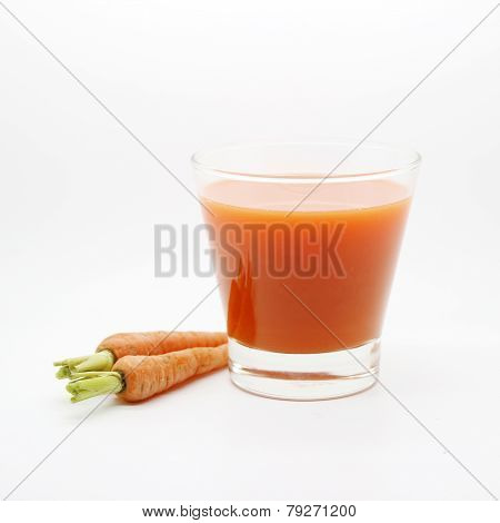 Baby Carrots And Carot Juice