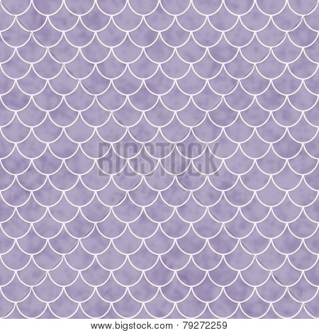 Purple And White Shell Tiles Pattern Repeat Background