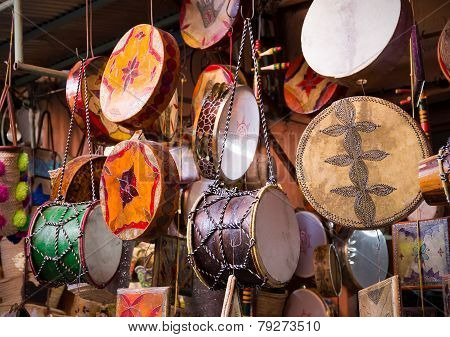 Moroccan Drums Souvenirs